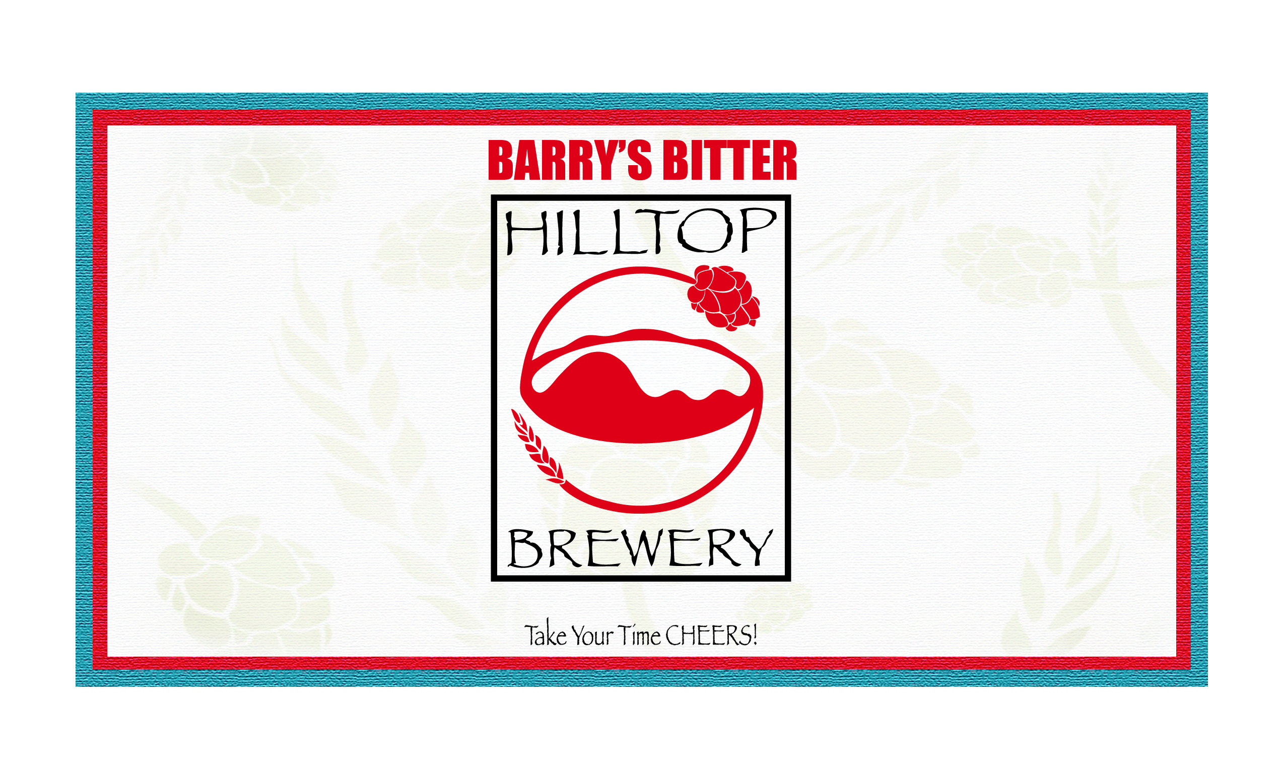 Barry's Bitter Label layout